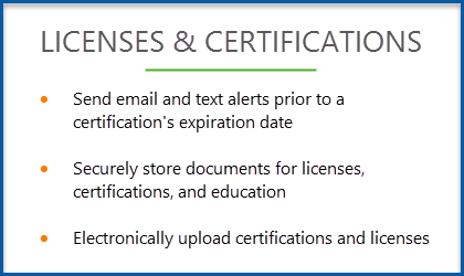 Licenses & Certifications